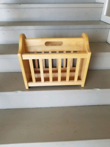 Wooden magazine rack call or text 306-861-3844