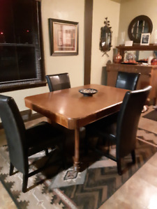 """Antique, """"Art Deco"""" Dining Room Table and Chairs"""
