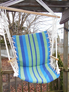 New Striped Cushioned Garden Swing
