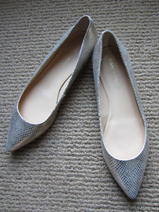 Metallic Leather Flats - Size 10 - Wedding shoes/flats