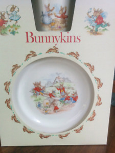 Vintage Royal Doulton Bunnykins 3 Piece Set - Fine Bone China