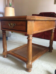 Retro wood end table