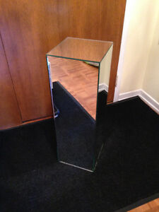 "Mirrored Pedestal 30"" X 10"" X 10"""