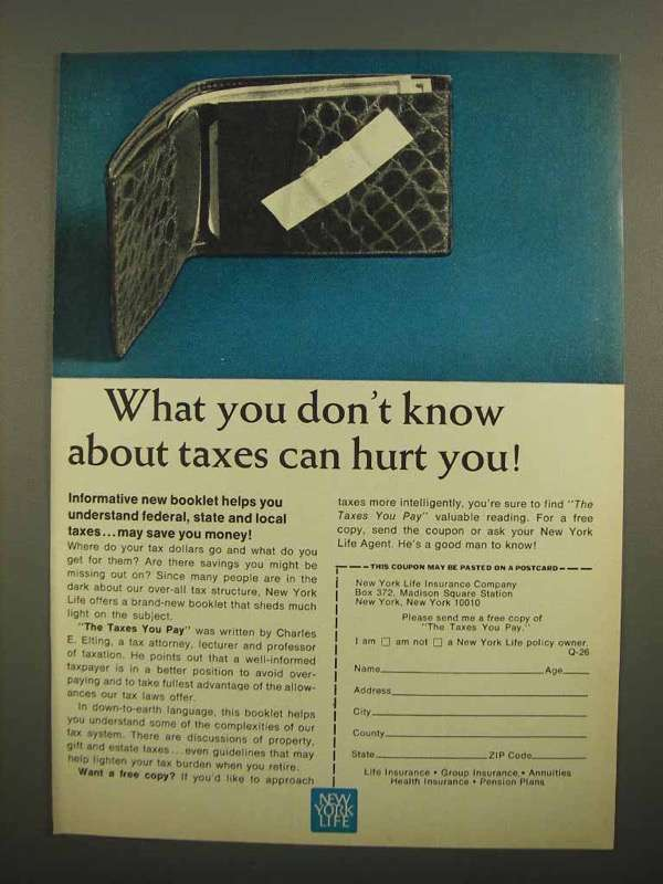 1966 New York Life Ad - What You Don