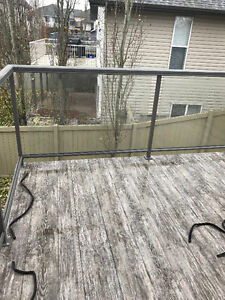Tempered deck railing glass (glass only)