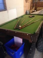 Pool table non-slate