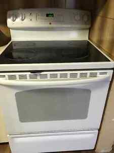 General Electric glass top stove