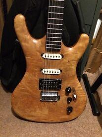 Interesting project guitar, birdseye maple neck!