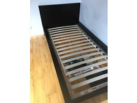 IKEA malm single bed frame, billy bookcase + Kalax storage unit!