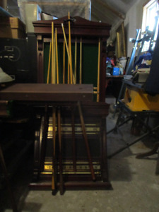 hundred year old pool table