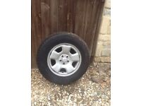4 X Subaru Forester steel wheels with tyres