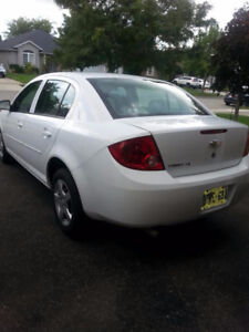 **2007 WHITE CHEV COBALT WITH 4 WINTER TIRES, LOW KM**
