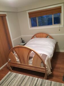 Queen Size Bed Frame, Solid Hardwood