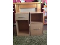 Wood effect office furniture £20.00 for both