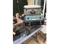 Job lot vintage suitcases