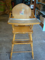 Vintage Highchair with Tin Tray