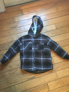 """Sherpa"" lined hooded flannel 5T"