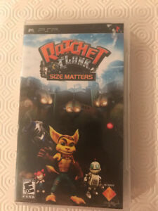 PSP game Ratchet and Clank Size matters