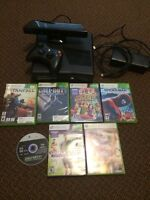 120GB Xbox 360 Slim with a kinect sensor and 7 games.