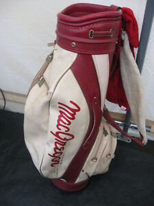 MAC GREGOR LEATHER GOLF BAG $10.00