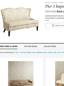 EXQUISITE BRAND NEW LOVESEAT from Pier One