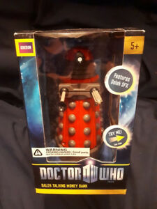 Brand New Doctor Who Red Dalek talking piggy bank