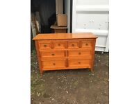 Solid pine 8 drawer sideboard