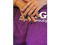 Sherllac , gel nails and luxury pedicure .