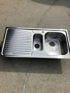 Stainless Steel Double Bowl Euronox Sink With Drainer