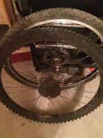 """Pair of 26"""" sun rims with tires"""
