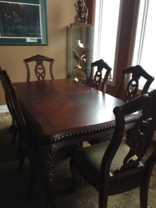 Gorgeous Solid Wood 14 Piece Dining Room Set - $2,000.00 OBO