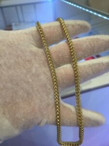 """10kt yellow gold 16"""" franco link chain"""