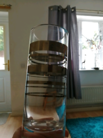 For sale a vase in coffee and clear courier