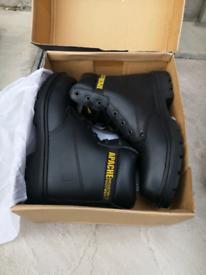 Steel toe cap boots size 10