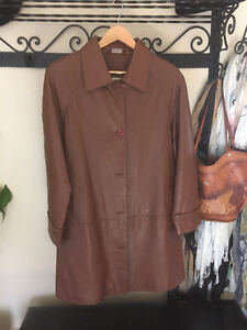 Gorgeous, Brown Genuine Leather Spring Coat for sale