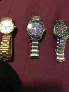 3 different watches. BARELY USED $100-$250 5872981043