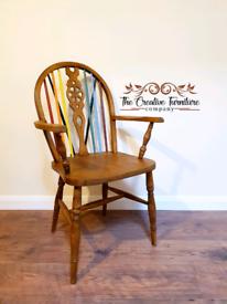 Oak Wheelback Armchair