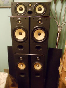 B&W  set of 6 speakers ( DM 602 complected 1 and sub woofer )