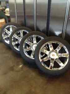 """Genuine OEM Cadillac Escalade 22"""" wheels with 285/45R22 Blizzak"""