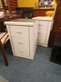 Matching white bedside drawers £15 fair condition