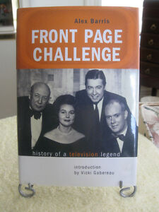 "VINTAGE BOOK...""FRONT PAGE CHALLENGE""..by ALEX BARRIS"