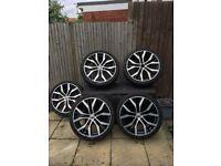 """MK7 Genuine VW 19"""" Santiago Alloys With Pirelli P ZERO Tyres - Set of 5"""