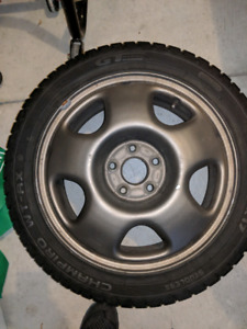 "17"" acura rims / blizzacks $400"