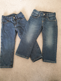 Two pairs of boys GAP jeans. Age 3 years