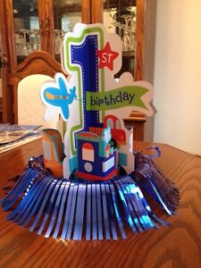 """Boys First Bday Party Decorations """" All Aboard Theme"""" Belleville Belleville Area image 4"""