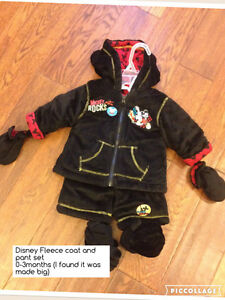 0-3 fleece outerwear suit