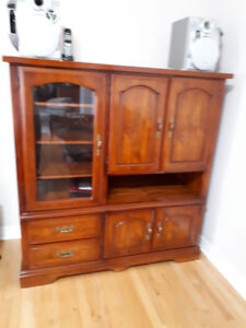 Stereo/Curio  solid  cherry  wood cabinet