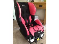 Recaro young expert plus cherry car seat 9months - 4years 123 isofix