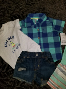 5 NEW Set cloths + 1 New pajama size 3-6 months