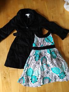 3T Girls floral dress + Black dress jacket
